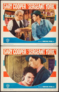 """Movie Posters:War, Sergeant York (Warner Brothers, R-1949). Lobby Cards (2) (11"""" X14""""). War.. ... (Total: 2 Items)"""