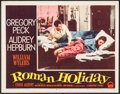 "Movie Posters:Romance, Roman Holiday (Paramount, 1953). Lobby Card (11"" X 14""). Romance.. ..."