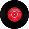 """Music Memorabilia:Recordings, Beatles """"Please Please Me""""/ """"Ask Me Why"""" Second UK SingleAutographed by all Four Fabs (Parlophone 4983, 1963)...."""