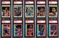 Basketball Cards:Lots, Signed 1987-88 Fleer Basketball Collection (32) Plus Six Stickers....