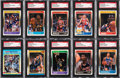 Basketball Cards:Lots, Signed 1988-89 Fleer Basketball Collection (46) Plus FourStickers....