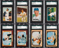Baseball Cards:Lots, 1951 - 1955 Bowman Baseball Shoe Box Collection (300+). ...