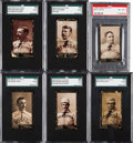 Baseball Cards:Lots, 1895 N300 Mayo Baseball Graded Group (6). ...
