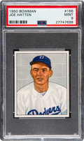 Baseball Cards:Singles (1950-1959), 1950 Bowman Joe Hatten #166 PSA Mint 9 - None Higher....