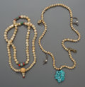 Tribal Art, Two Tibetan Bead Necklaces... (Total: 2 Items)