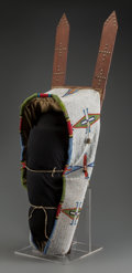 American Indian Art:Beadwork and Quillwork, A Cheyenne Beaded Hide Baby Carrier...