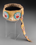 American Indian Art:Beadwork and Quillwork, An Omaha Beaded Otter Skin Turban...