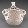 American Indian Art:Pottery, An Acoma Polychrome Canteen. Rose Chino...