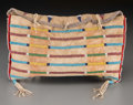 American Indian Art:Beadwork and Quillwork, A Crow Beaded Hide Tipi Bag ...