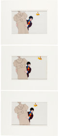 Music Memorabilia:Memorabilia, Beatles - Group of Three Original Yellow Submarine AnimationCels (King Features Syndicate, 1968).... (Total: 3 )