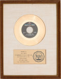"Music Memorabilia:Awards, Sam the Sham and the Pharaohs ""Li'l Red Riding Hood"" RIAA ..."