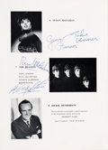 Music Memorabilia:Autographs and Signed Items, Beatles - Fantastic 1963 Royal Command Performance Program Signedby All Four Beatles (UK, 1963)....