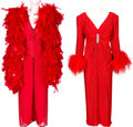Music Memorabilia:Costumes, A Connie Francis Pair of Evening Gowns Worn Onstage at Trump's Castle In Atlantic City, 1993.... (Total: 2 Items)