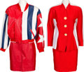 Music Memorabilia:Costumes, A Connie Francis Pair of Suits, 1970s-1980s.. ... (Total: 2 Items)