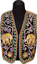 Music Memorabilia:Costumes, Jimi Hendrix Owned and Worn Indian-Style Embroidered Vest (Circa 1967-70)....