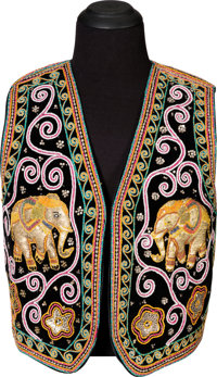 Jimi Hendrix Owned and Worn Indian-Style Embroidered Vest (Circa 1967-70)
