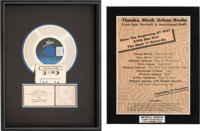 Michael Jackson - RIAA Gold Award and Hit Records Plaque (Epic, 1987/1991)