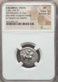 Ancients:Greek, Ancients: CALABRIA. Tarentum. Ca. 272-240 BC. AR stater or didrachm(6.33 gm). NGC XF 5/5 - 4/5....