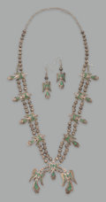American Indian Art:Jewelry and Silverwork, A Zuni Jewelry Suite... (Total: 3 Items)