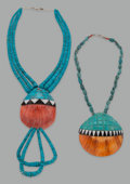 American Indian Art:Jewelry and Silverwork, Two Santo Domingo Necklaces. Donald Crespin... (Total: 2 Items)
