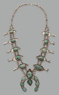 Jewelry:Necklaces, A Navajo Squash Blossom Necklace...