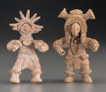 Pre-Columbian:Ceramics, Two Fine Colima Standing Figures... (Total: 3 Items)