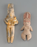 Pre-Columbian:Ceramics, Two Pre-Classic Figures... (Total: 2 Items)