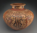 Pre-Columbian:Ceramics, A Very Large Cocle Polychrome Jar...