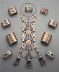 Tribal Art, Ten Turkoman or Pakistani Cuff Jewelry Items. ... (Total: 10 Items)