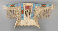 A Crow Beaded Hide War Shirt