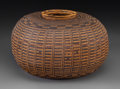 American Indian Art:Baskets, A Rare Chumash Coiled Jar...