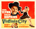"Movie Posters:Western, Virginia City (Warner Brothers, R-1942). Half Sheet (22"" X 28"") Style A.. ..."