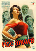 "Movie Posters:Foreign, Bitter Rice (Lux Film, 1948). Italian Foglio (27.25"" X 39"") DanteManno Artwork.. ..."