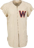 Baseball Collectibles:Uniforms, 1955 Bruce Edwards Game Worn Washington Senators Jersey....