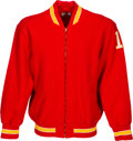 Football Collectibles:Uniforms, 1970's Mike Livingston Game Worn Kansas City Chiefs Sideline Sweater....