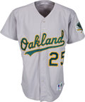 Baseball Collectibles:Uniforms, 1993 Mark McGwire Game Worn Oakland A's Jersey....