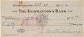 Baseball Collectibles:Others, 1942 Walter Johnson Signed Check. ...