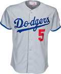 Baseball Collectibles:Uniforms, 1984 Mike Marshall Game Worn Los Angeles Dodgers Jersey. ...