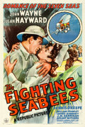 "Movie Posters:War, The Fighting Seabees (Republic, 1944). One Sheet (27"" X 41"").. ..."