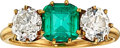 Estate Jewelry:Rings, Antique Emerald, Diamond, Gold Ring, Bailey, Banks & Biddl...
