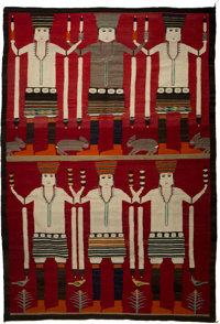A Large Navajo Pictorial Rug