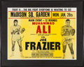 Boxing Collectibles:Memorabilia, 1974 Muhammad Ali vs. Joe Frazier II On-Site Poster Signed by Both....