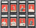 Baseball Cards:Lots, 1915 Cracker Jack SGC-Graded Collection (8). ...