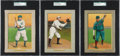 Baseball Cards:Lots, 1910-11 T3 Turkey Red SGC-Graded Trio (3). ...