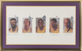 Basketball Collectibles:Others, 1990's Los Angles Lakers Legends Multi-Signed Lithograph. ...