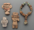 Pre-Columbian:Ceramics, Four Miscellaneous Pre-Columbian Objects. ... (Total: 4 Items)