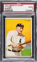 Baseball Cards:Singles (Pre-1930), 1912 T227 Miners Extra Ty Cobb PSA Good 2....