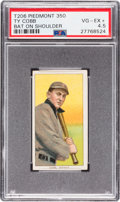 Baseball Cards:Singles (Pre-1930), 1909-11 T206 Piedmont Ty Cobb (Bat On Shoulder) PSA VG-EX+ 4.5....