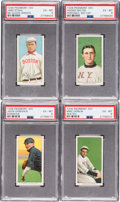 Baseball Cards:Lots, 1909-11 T206 White Borders PSA EX-MT 6 Collection (4). ...