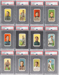 Baseball Cards:Lots, 1909-11 T206 Piedmont PSA-Graded Collection (23) With 14 Hall ofFamers. ...